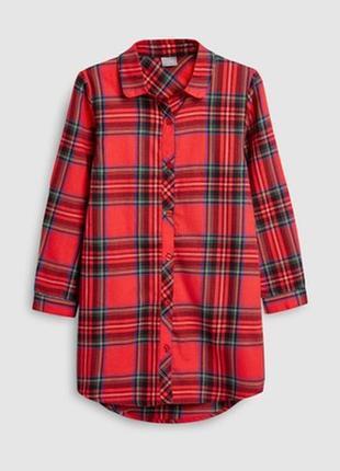 Удлененное платье-рубашка next