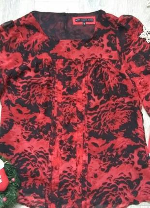 Яркая нарядная женская прямая свободная блуза