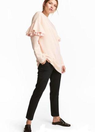 H&m длинный свитер джемпер свитшот с оборками, m-l2 фото