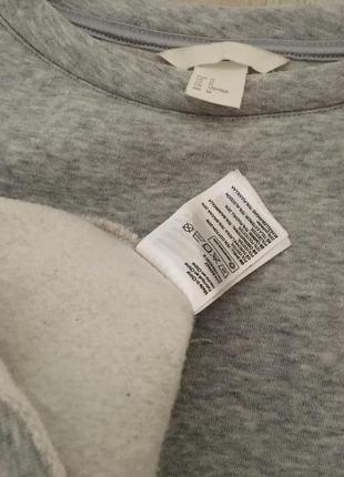 H&m длинный свитер джемпер свитшот с оборками, m-l4 фото