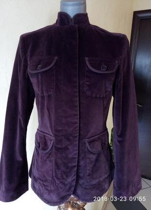 Велюровый жакет слим,цвета марсала,46-48 размер
