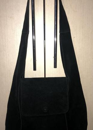 Шикарная сумка италия 🇮🇹 н.замш,в идеале.