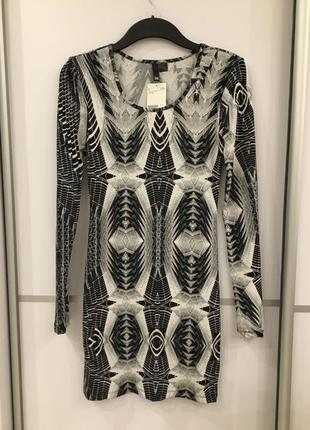 Облегающее платье серое h&m