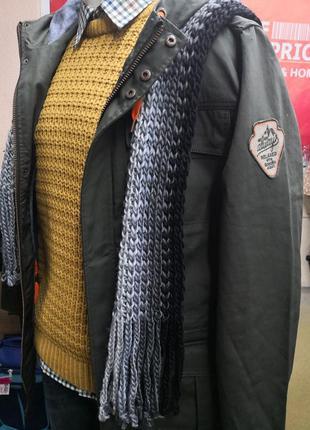 Sale шарф шерстяной зимний тёплый крупной вязки