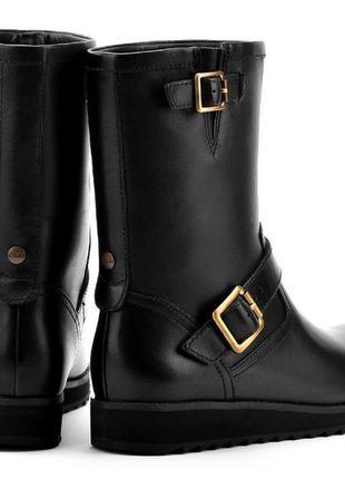 Зимние кожаные сапоги ботинки