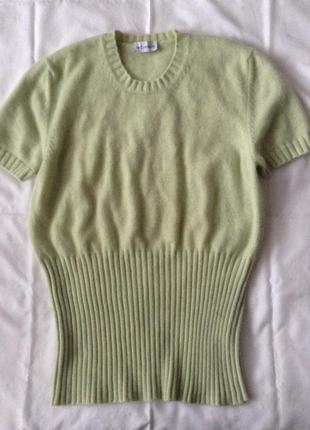Кашемировый свитер. мятный. m-l(пог-50). кашемир 100%