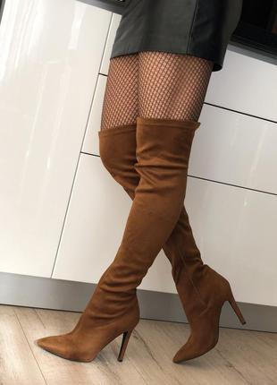 Стильные ботфорты, ботфорты на каблуке