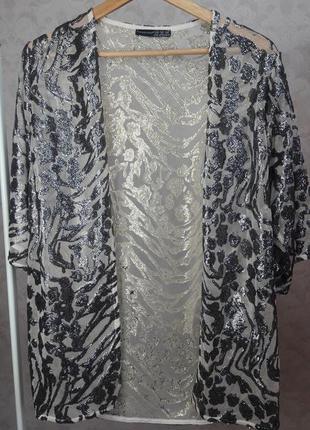 Парео пляжная накидка кимоно блестки пайетки