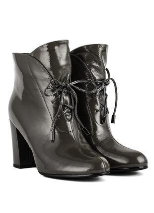 1152б женские ботильоны lady marcia,кожаные,на высоком каблуке,на плоской подошве