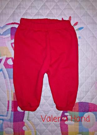 Супер плотные теплые трикотажные спортивные штаны - брюки - треники - возраст 3-6 месяцев