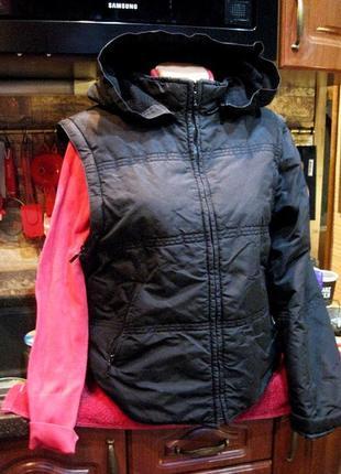 Hennes (оригинал) лыжная куртка трансформер жилетка с капюшоном