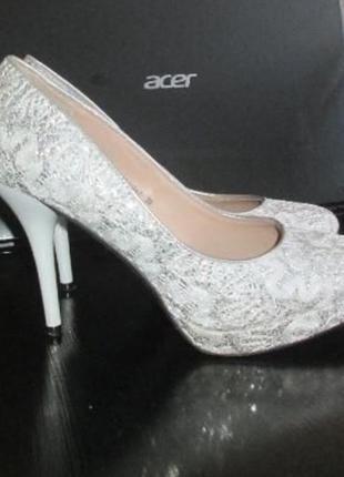 Туфли свадебные нарядные размер 39-38.5