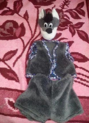 Продаю детский костюм волка на новогодний утренник