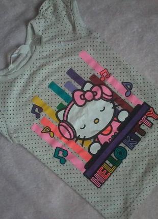 Мимишная футболка с китти 3-5лет ,h&m