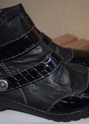 Утепленные ботинки риекер rieker р.38 24 см ботильоны полусапоги