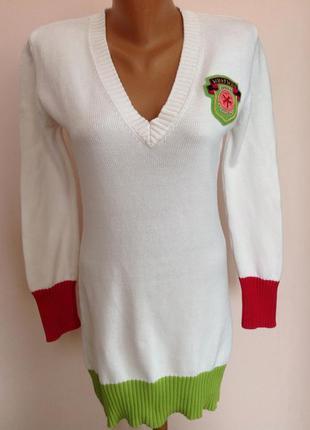 Котоновый  длинный итальянский свитер. /s/ brend who& who