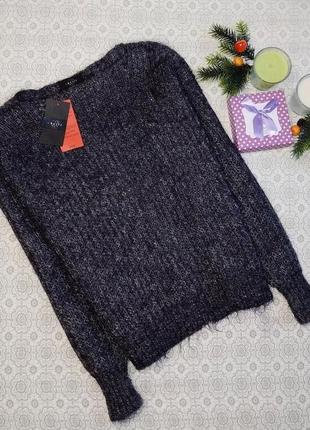 Sale! шерстяной свитер (шерсть, ангора) графит