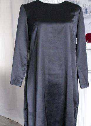 Красивое шелковое элегантное платье от h&m (l размер)