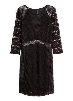 Новое кружевное нарядное платье h&m