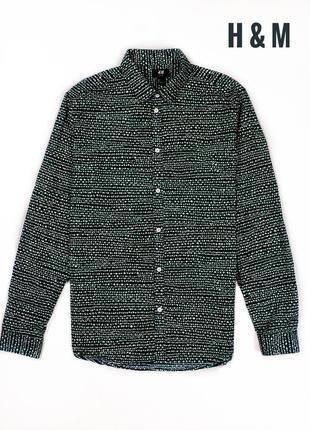Мужская рубашка с интересным принтом от h&m