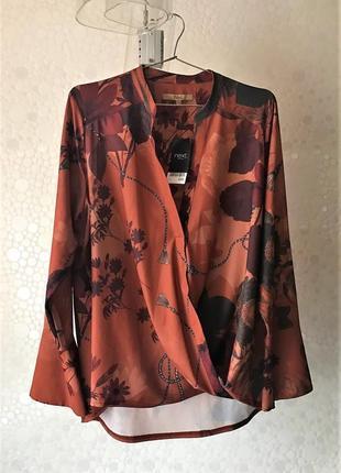 Шикарна блуза великого розміру next petite,p.18(eur 46)