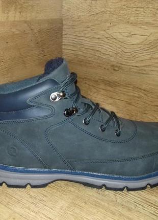 Зимние ботинки мужские tm restime!!! одна ростовка р. 41-46 чёрные и синие