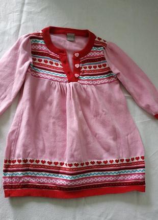 Платье вязаное на девочку 3-6 мес