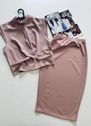 Роскошный костюм блузка и юбка