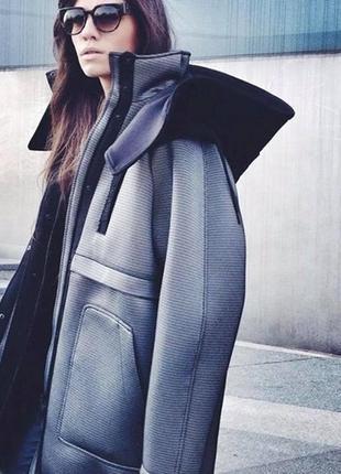 Неопреновая парка куртка alexander wang h&m оригинал