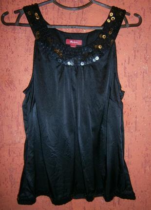 Праздничная блуза шелк с пайетками