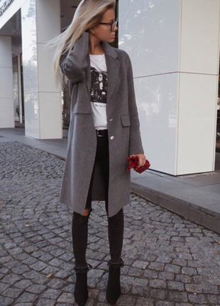 Шерстяное пальто zara. 80% шерсть
