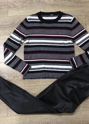 Базовый свитер в полоску h&m