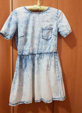 Красивое джинсовое платье denim co