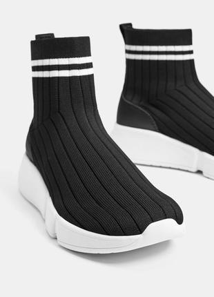 Модные кроссовки носок bershka