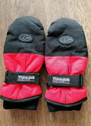 Термо варежки-краги рукавицы thinsulate размер l