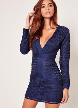 Особенное синее платье премиум класса