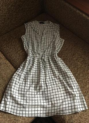 Актуальное рубашка платье в клетку