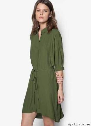 Актуальное рубашка платье хаки