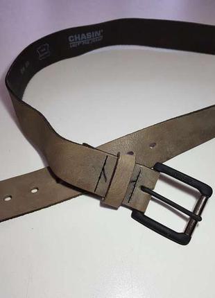 Ремень chasin, кожаный, 102*3,8 см, как новый!