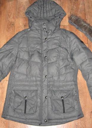Зимняя куртка-пуховик  s.oliver р.10(40), наполнитель натуральный пух и перо