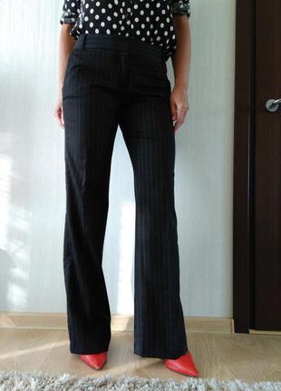 Стильные шерстяные брюки в полоску tommi hilfigger р 8