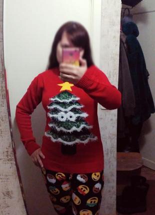 Веселый свитер новогодний на подарок, кофта,  джемпер, пуловер, свитшот