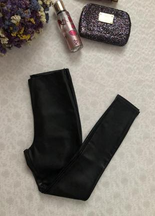 Кожаные лосины штаны высокая посадка  s - размер. тренд