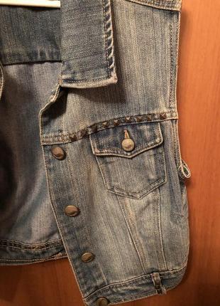 Топ джинсовый terranova