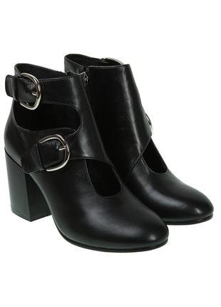 1084б женские ботильоны wit mooni,кожаные,на каблуке,на тонкой подошве,на толстом каблуке
