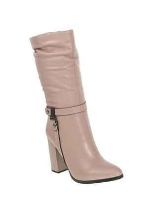 1082б женские полусапожки sufinna,кожаные,на каблуке,на тонкой подошве,на толстом каблуке