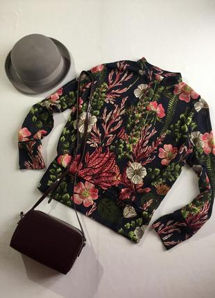 Блуза оверсайз в квіти
