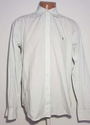 Рубашка yves saint laurent, 35% хлопок, m, как новая!