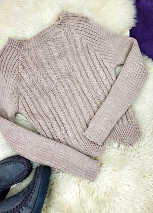 Стильный укороченный свитер в наличии два цвета
