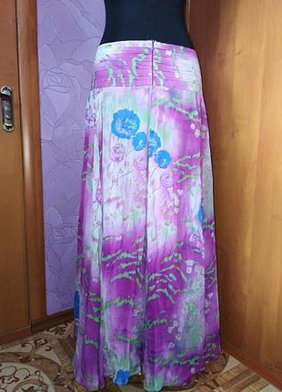 Шёлковая юбка-солнце  в пол